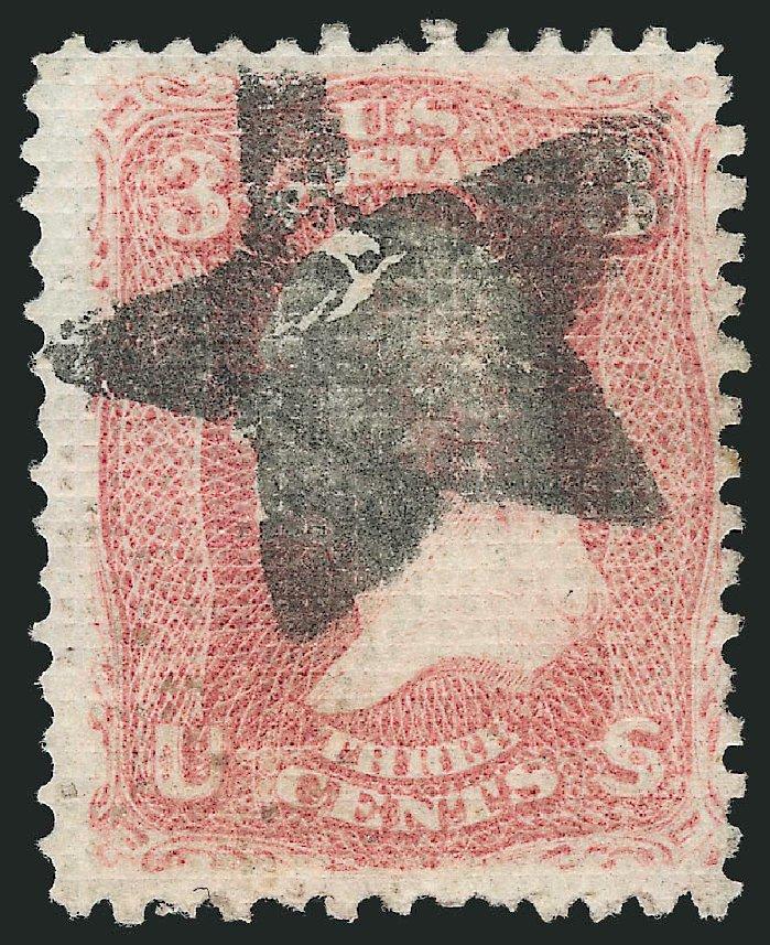 US Stamps Price Scott Cat. # 79 - 3c 1867 Washington Grill. Robert Siegel Auction Galleries, Apr 2015, Sale 1096, Lot 156
