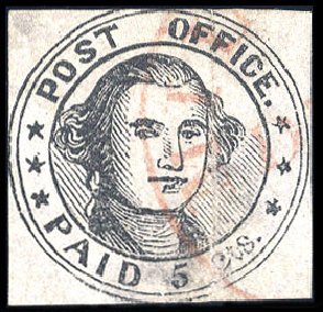Value of US Stamp Scott Cat. #7X1: 1846 5c Millbury Postmasters Provisional. Cherrystone Auctions, Jul 2009, Sale 200907, Lot 100