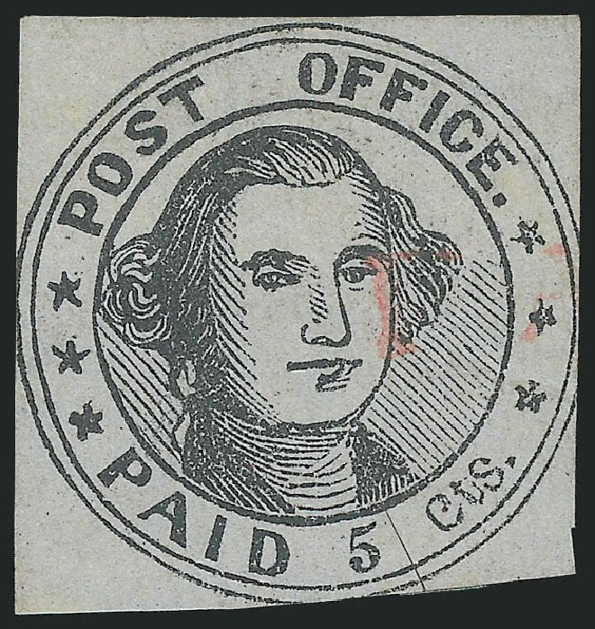 Costs of US Stamp Scott 7X1 - 1846 5c Millbury Postmasters Provisional. Robert Siegel Auction Galleries, Jun 2012, Sale 1025, Lot 21