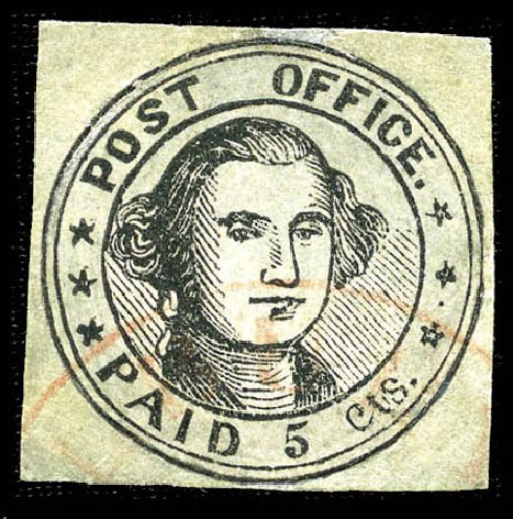 Cost of US Stamps Scott Cat. 7X1: 5c 1846 Millbury Postmasters Provisional. Matthew Bennett International, Feb 2012, Sale 340, Lot 6