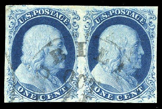 Cost of US Stamps Scott # 8: 1857 1c Franklin. Matthew Bennett International, Feb 2015, Sale 351, Lot 27