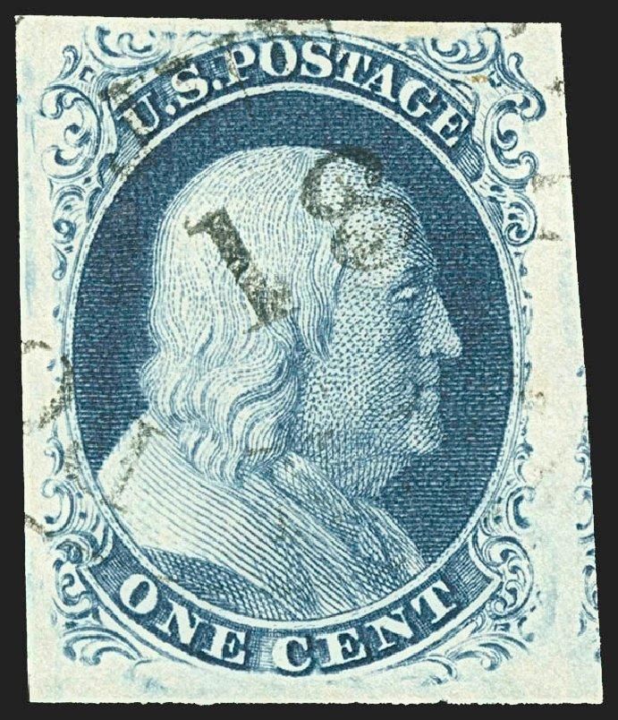 US Stamp Prices Scott Catalog #8: 1c 1857 Franklin. Robert Siegel Auction Galleries, Jul 2015, Sale 1107, Lot 57