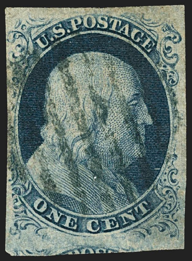 Price of US Stamps Scott Catalogue #8 - 1857 1c Franklin. Robert Siegel Auction Galleries, Jul 2015, Sale 1107, Lot 59