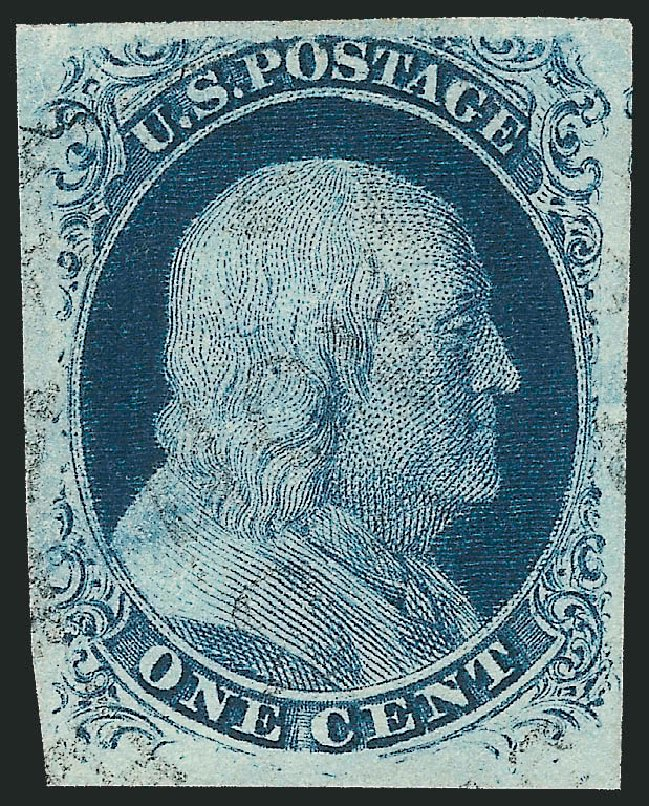 Value Of Us Stamps Scott Catalogue 8 1c 1857 Franklin