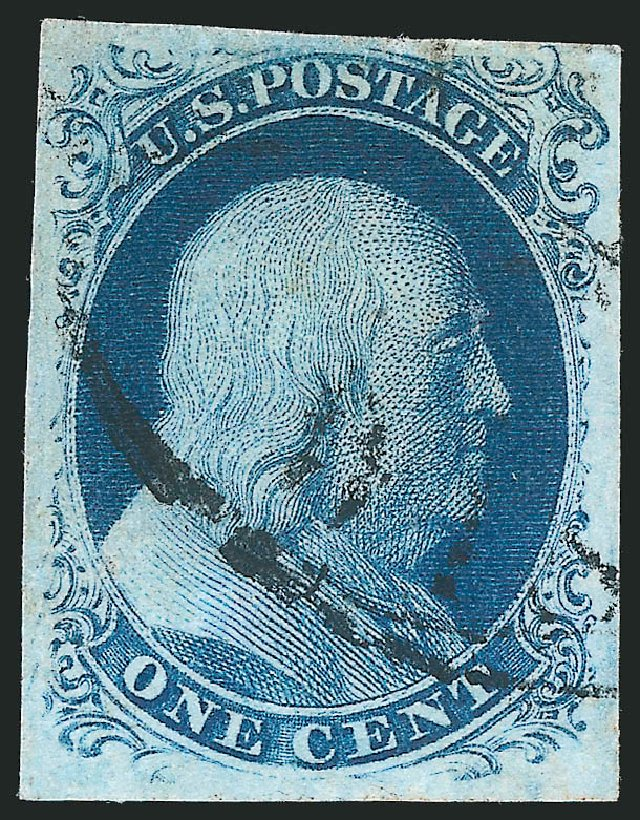 Values of US Stamps Scott # 8 - 1857 1c Franklin. Robert Siegel Auction Galleries, Jun 2015, Sale 1106, Lot 3024