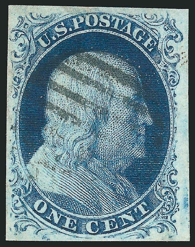 US Stamp Price Scott Catalogue #8: 1c 1857 Franklin. Robert Siegel Auction Galleries, Apr 2015, Sale 1096, Lot 15