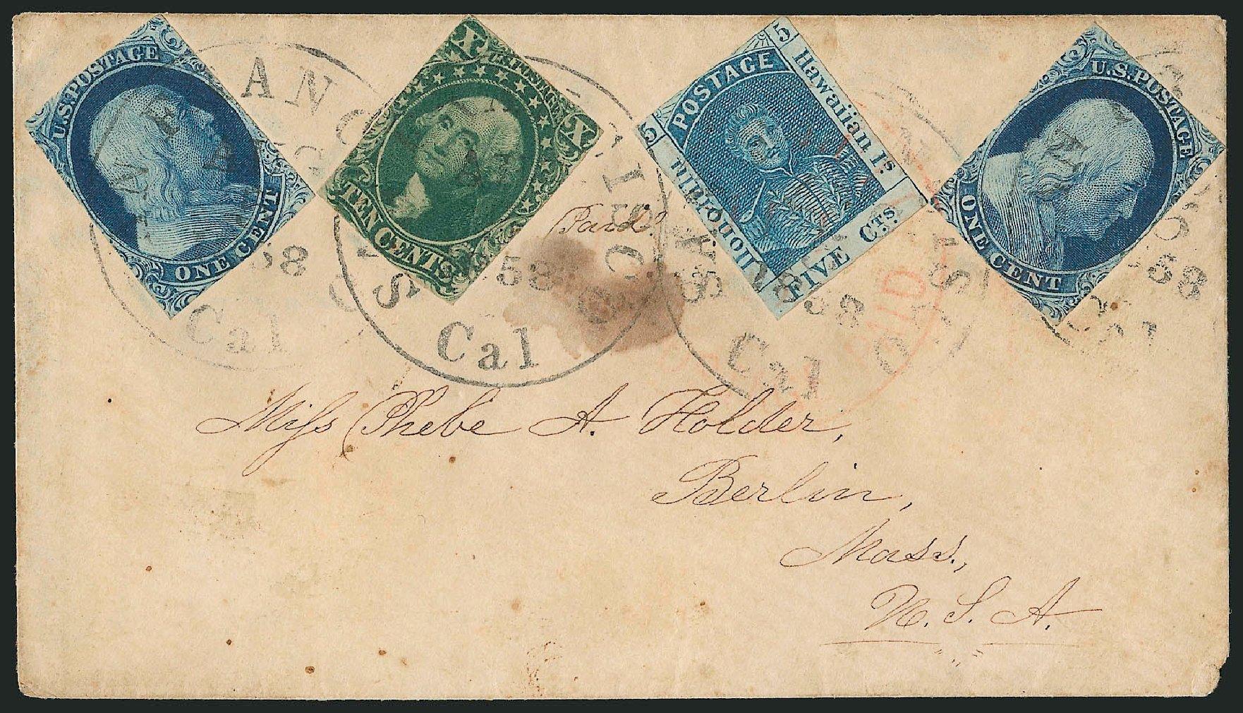 Value of US Stamp Scott Catalog # 8 - 1857 1c Franklin. Robert Siegel Auction Galleries, Jun 2015, Sale 1105, Lot 2536