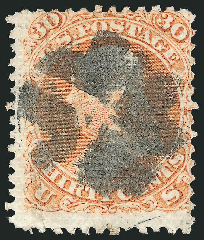 Costs of US Stamps Scott 81: 30c 1867 Franklin Grill. Robert Siegel Auction Galleries, Jun 2012, Sale 1024, Lot 139