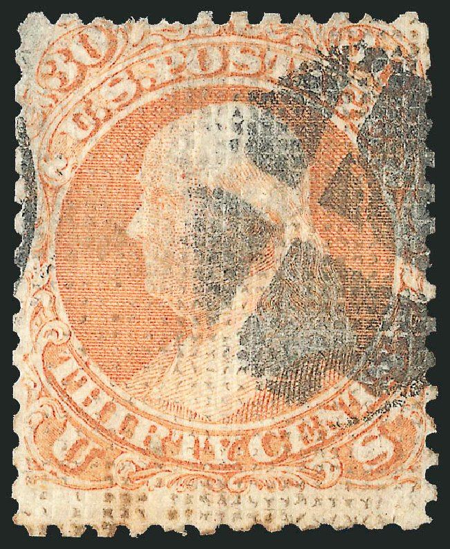 US Stamps Price Scott Catalog 81 - 1867 30c Franklin Grill. Robert Siegel Auction Galleries, Jun 2015, Sale 1106, Lot 3101