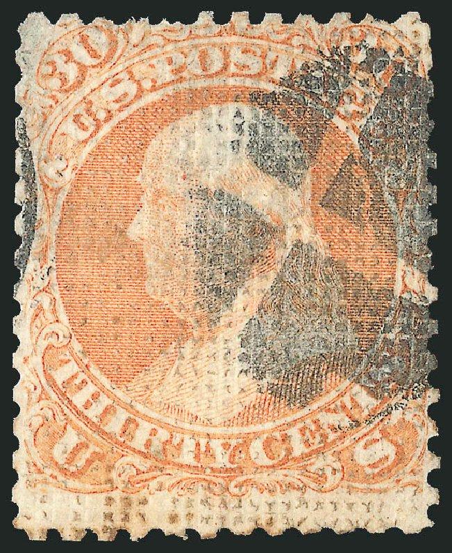 US Stamps Price Scott Catalog 81 - 1867 30c Franklin Grill. Robert Siegel Auction Galleries, Jun 2015, Sale 1106, Lot 3101