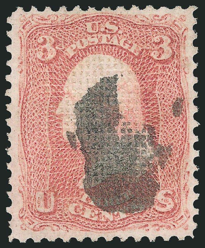 US Stamps Value Scott 83 - 3c 1867 Washington Grill. Robert Siegel Auction Galleries, Dec 2014, Sale 1090, Lot 1217