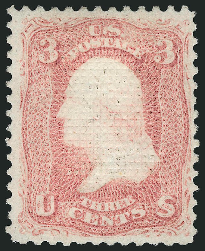 Costs of US Stamps Scott Cat. 83 - 3c 1867 Washington Grill. Robert Siegel Auction Galleries, Apr 2015, Sale 1096, Lot 157