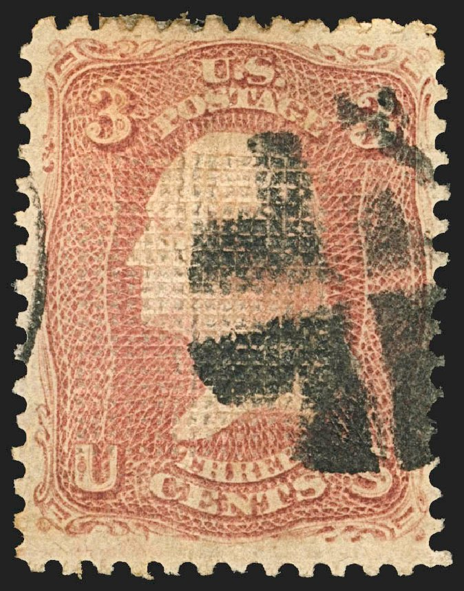 Cost of US Stamps Scott Cat. #83 - 3c 1867 Washington Grill. Robert Siegel Auction Galleries, Jul 2015, Sale 1107, Lot 187