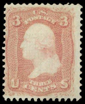 Costs of US Stamp Scott # 83 - 1867 3c Washington Grill. Daniel Kelleher Auctions, Jan 2015, Sale 663, Lot 1309
