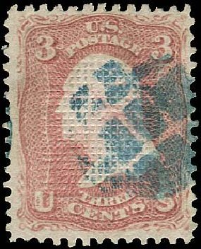 Prices of US Stamp Scott #83: 1867 3c Washington Grill. Regency-Superior, Nov 2014, Sale 108, Lot 199