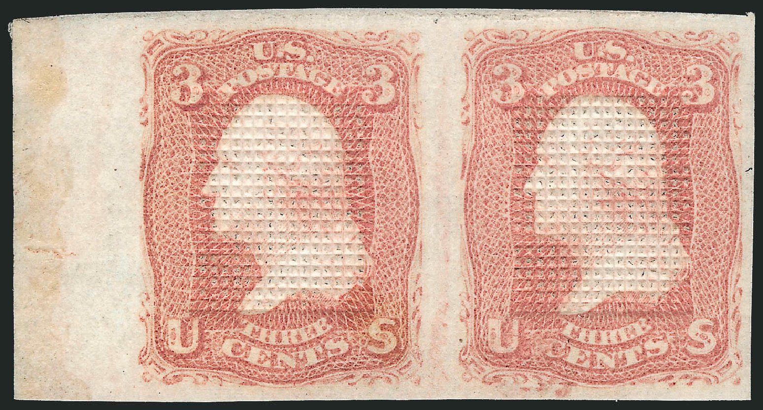 Price of US Stamps Scott Catalogue # 83: 1867 3c Washington Grill. Robert Siegel Auction Galleries, Apr 2015, Sale 1096, Lot 159