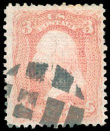 Cost of US Stamps Scott Catalogue #83 - 3c 1867 Washington Grill. Schuyler J. Rumsey Philatelic Auctions, Apr 2015, Sale 60, Lot 2052