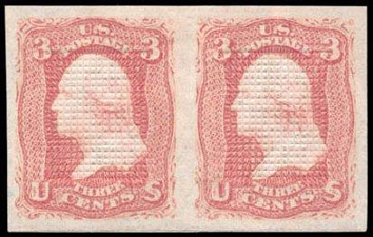 US Stamp Price Scott Catalog 83 - 3c 1867 Washington Grill. Schuyler J. Rumsey Philatelic Auctions, Apr 2015, Sale 60, Lot 2053