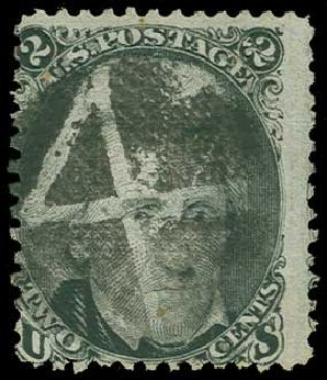 US Stamps Prices Scott 84 - 1867 2c Jackson Grill. H.R. Harmer, Jun 2015, Sale 3007, Lot 3158