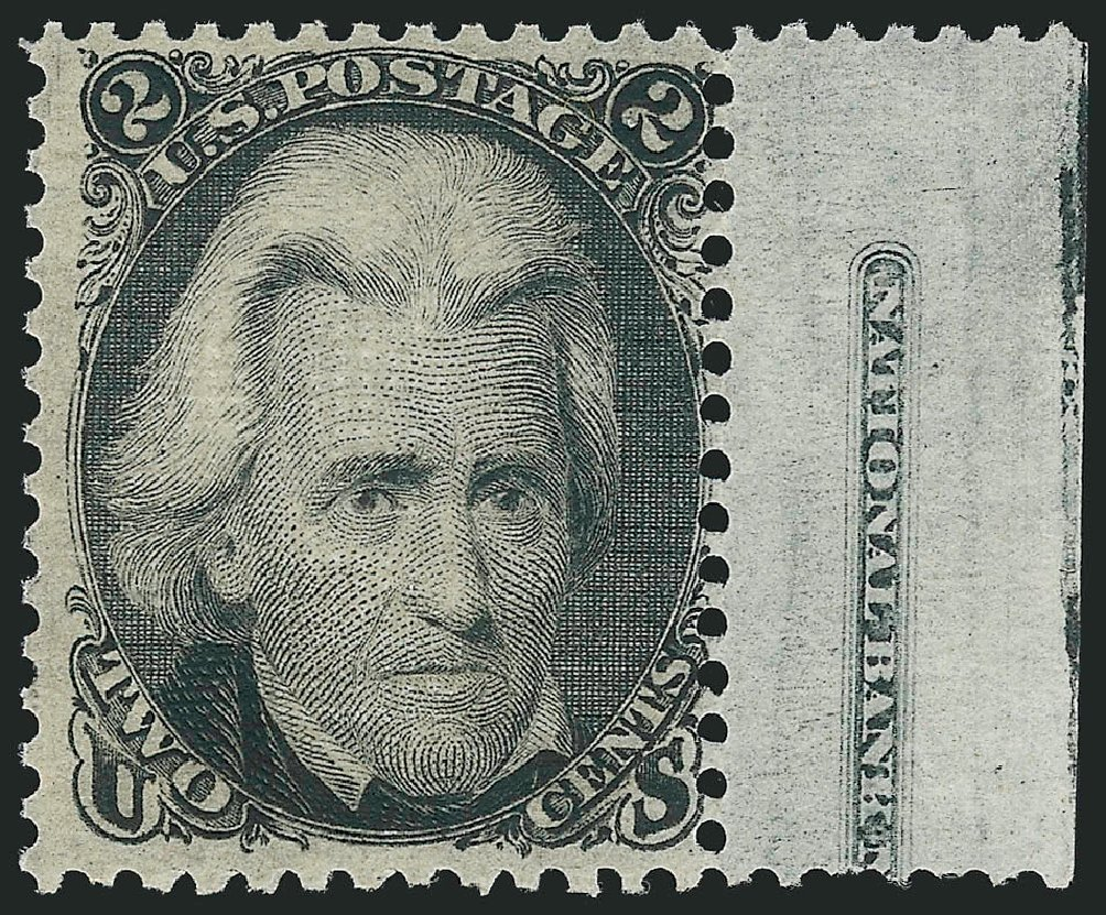 US Stamps Values Scott 84 - 1867 2c Jackson Grill. Robert Siegel Auction Galleries, Apr 2015, Sale 1096, Lot 160