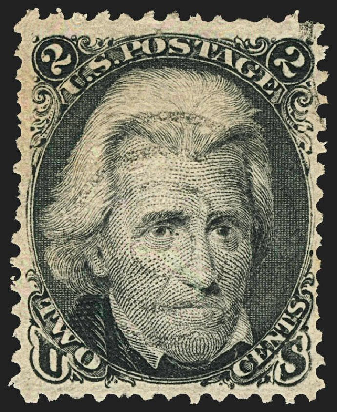 US Stamp Value Scott Catalogue # 84 - 2c 1867 Jackson Grill. Robert Siegel Auction Galleries, Jul 2015, Sale 1107, Lot 191