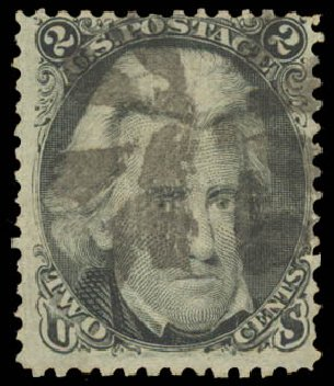 US Stamps Value Scott Catalog 84: 1867 2c Jackson Grill. Daniel Kelleher Auctions, Aug 2015, Sale 672, Lot 2274