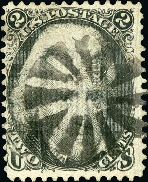 Value of US Stamps Scott #84 - 2c 1867 Jackson Grill. Spink Shreves Galleries, Jan 2015, Sale 150, Lot 84