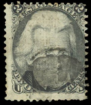 US Stamp Values Scott 84 - 1867 2c Jackson Grill. Daniel Kelleher Auctions, Aug 2015, Sale 672, Lot 2275
