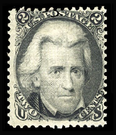 US Stamp Price Scott Catalogue 84: 1867 2c Jackson Grill. Cherrystone Auctions, Jan 2015, Sale 201501, Lot 122