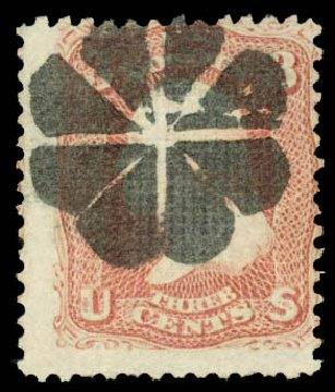 US Stamp Values Scott 85 - 1868 3c Washington Grill. Daniel Kelleher Auctions, Aug 2015, Sale 672, Lot 2279