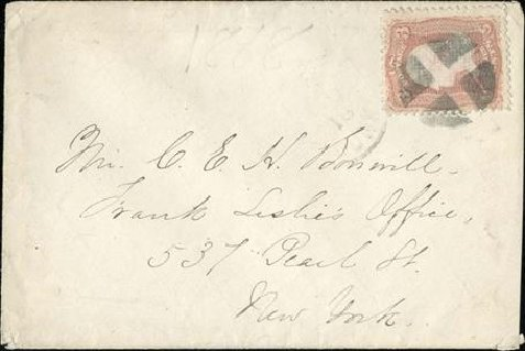 Price of US Stamps Scott 85: 1868 3c Washington Grill. Spink Shreves Galleries, Jan 2015, Sale 150, Lot 86