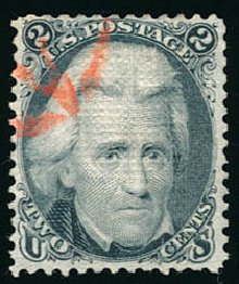 Costs of US Stamps Scott #85B - 1868 2c Jackson Grill. Schuyler J. Rumsey Philatelic Auctions, Apr 2015, Sale 60, Lot 1817