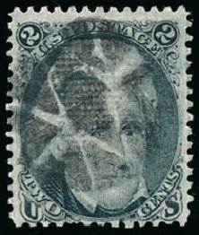 Prices of US Stamp Scott Catalog #85B - 2c 1868 Jackson Grill. Schuyler J. Rumsey Philatelic Auctions, Apr 2015, Sale 60, Lot 1818