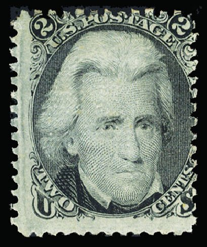 US Stamp Prices Scott # 85B: 1868 2c Jackson Grill. Cherrystone Auctions, Jul 2015, Sale 201507, Lot 40