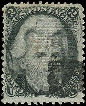 US Stamps Prices Scott Cat. #85B - 2c 1868 Jackson Grill. Regency-Superior, Jan 2015, Sale 109, Lot 690