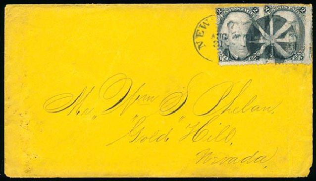 US Stamp Prices Scott Catalogue #85B - 1868 2c Jackson Grill. Schuyler J. Rumsey Philatelic Auctions, Apr 2015, Sale 60, Lot 1820