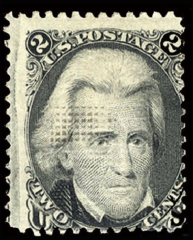 Cost of US Stamps Scott Catalogue # 85B: 1868 2c Jackson Grill. Cherrystone Auctions, Jul 2015, Sale 201507, Lot 41