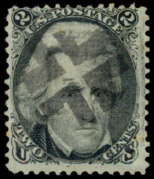 Prices of US Stamp Scott Cat. # 85B: 2c 1868 Jackson Grill. Daniel Kelleher Auctions, May 2015, Sale 669, Lot 2531