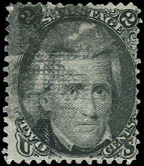 US Stamps Price Scott Cat. 85B: 1868 2c Jackson Grill. Regency-Superior, Nov 2014, Sale 108, Lot 211