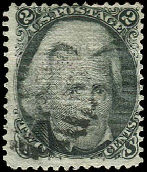 Values of US Stamp Scott Cat. 85B - 1868 2c Jackson Grill. Regency-Superior, Jan 2015, Sale 109, Lot 691