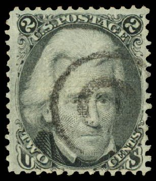 US Stamps Value Scott Catalogue #85B: 2c 1868 Jackson Grill. Daniel Kelleher Auctions, Aug 2015, Sale 672, Lot 2284