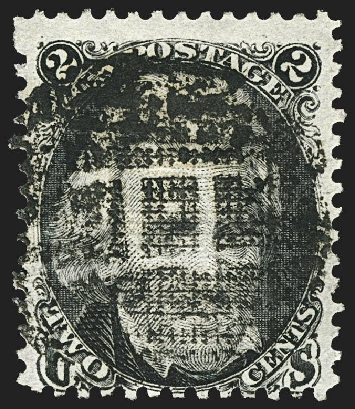 US Stamps Prices Scott 85B - 2c 1868 Jackson Grill. Robert Siegel Auction Galleries, Jul 2015, Sale 1107, Lot 194