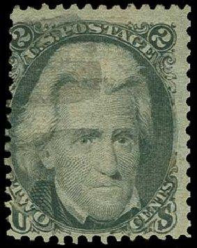 US Stamp Price Scott Cat. 85B: 2c 1868 Jackson Grill. H.R. Harmer, Jun 2015, Sale 3007, Lot 3165