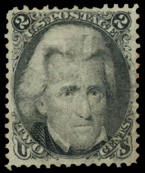Cost of US Stamps Scott Cat. # 85B: 1868 2c Jackson Grill. Daniel Kelleher Auctions, Aug 2015, Sale 672, Lot 2282