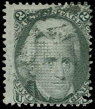 Prices of US Stamp Scott Cat. 85B - 1868 2c Jackson Grill. H.R. Harmer, Jun 2015, Sale 3007, Lot 3163