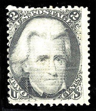 Value of US Stamp Scott 85B - 2c 1868 Jackson Grill. Cherrystone Auctions, Jan 2015, Sale 201501, Lot 126