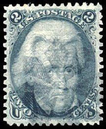 Costs of US Stamp Scott 85B - 2c 1868 Jackson Grill. Schuyler J. Rumsey Philatelic Auctions, Apr 2015, Sale 60, Lot 2056