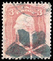 Costs of US Stamps Scott Cat. #85C: 1868 3c Washington Grill. Schuyler J. Rumsey Philatelic Auctions, Apr 2015, Sale 60, Lot 2057