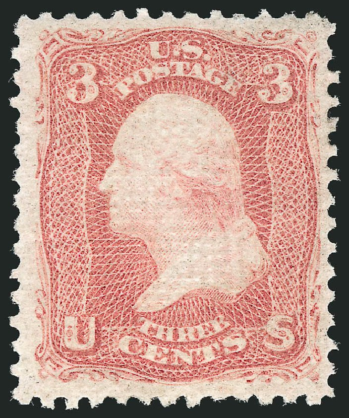 Costs of US Stamps Scott Catalogue # 85C: 1868 3c Washington Grill. Robert Siegel Auction Galleries, Apr 2015, Sale 1096, Lot 164