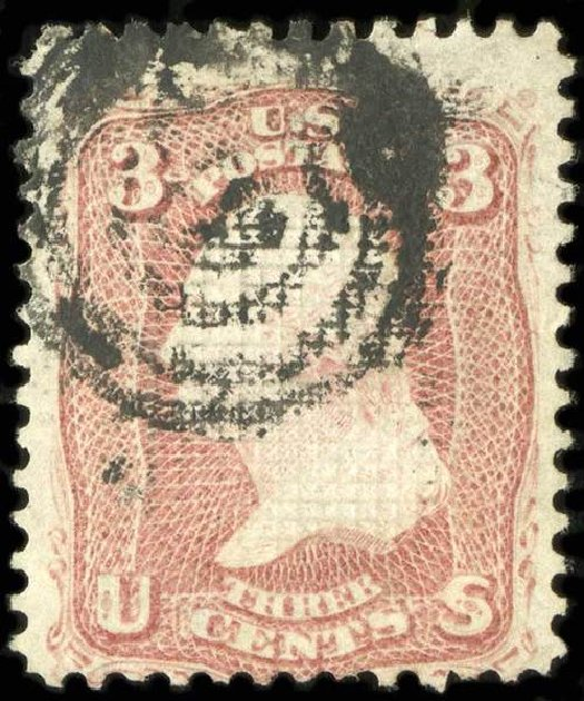 Cost of US Stamps Scott Catalogue # 85C: 1868 3c Washington Grill. Spink Shreves Galleries, Jul 2015, Sale 151, Lot 82